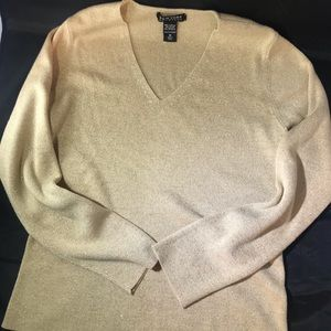 Goldish Sparkly New York & Co sweater
